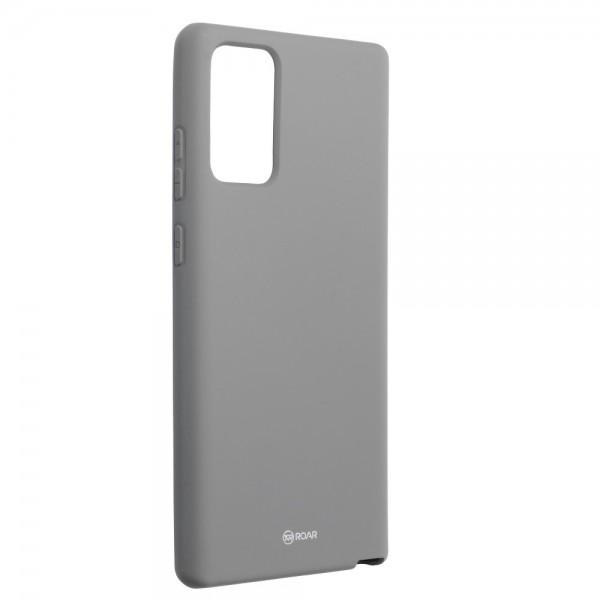 Husa Spate Silicon Roar Jelly Compatibila Cu Samsung Galaxy Note 20, Gri imagine itelmobile.ro 2021