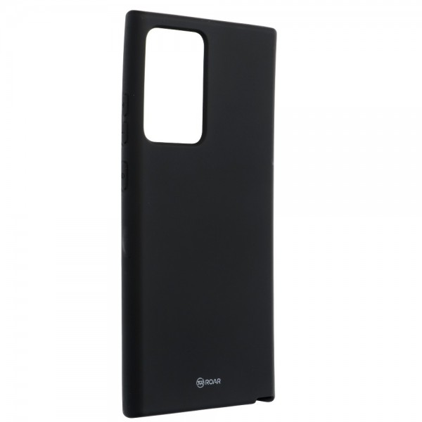 Husa Spate Silicon Roar Jelly Compatibila Cu Samsung Galaxy Note 20 Ultra, Negru imagine itelmobile.ro 2021