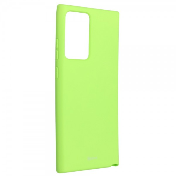 Husa Spate Silicon Roar Jelly Compatibila Cu Samsung Galaxy Note 20 Ultra, Verde Lime imagine itelmobile.ro 2021