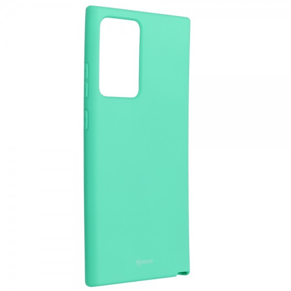 Husa Spate Silicon Roar Jelly Compatibila Cu Samsung Galaxy Note 20 Ultra, Verde Menta imagine itelmobile.ro 2021