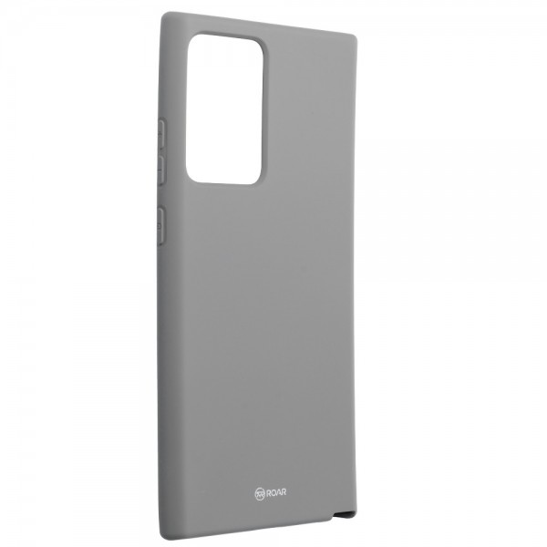 Husa Spate Silicon Roar Jelly Compatibila Cu Samsung Galaxy Note 20 Ultra, Gri imagine itelmobile.ro 2021