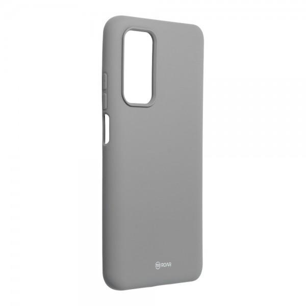 Husa Spate Silicon Roar Jelly Compatibila Cu Xiaomi Mi 10T 5G / Mi 10T Pro 5G, Gri imagine itelmobile.ro 2021