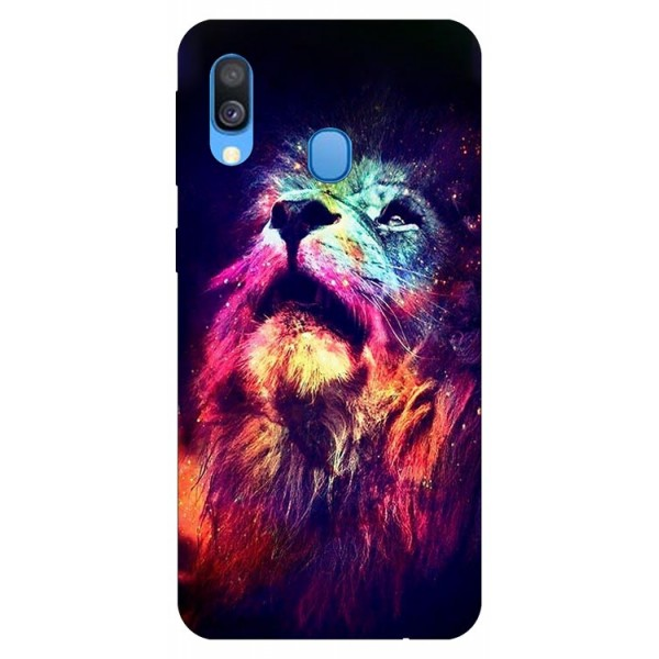 Husa Silicon Soft Upzz Print Compatibila Cu Samsung Galaxy A40 Model Neon Lion imagine itelmobile.ro 2021