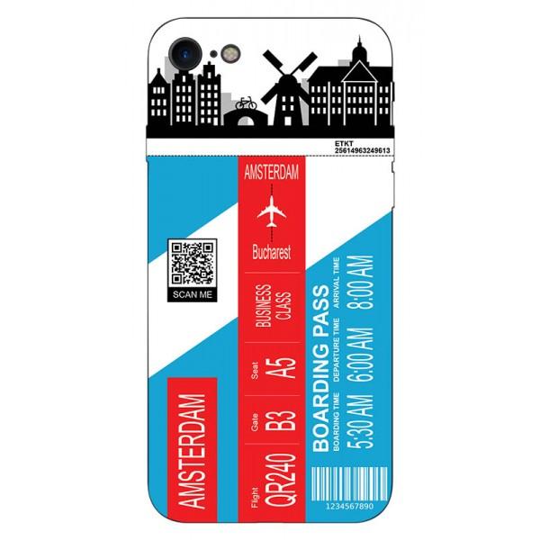 Husa Silicon Soft Upzz Print Travel Compatibila cu Iphone 7 - Iphone 8 Model Amsterdam imagine itelmobile.ro 2021