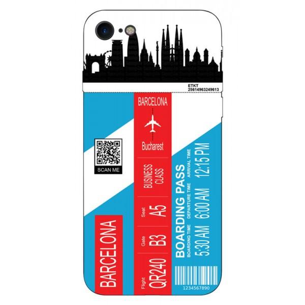 Husa Silicon Soft Upzz Print Travel Compatibila cu Iphone 7 - Iphone 8 Model Barcelona imagine itelmobile.ro 2021