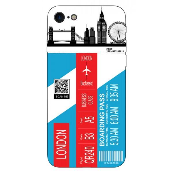 Husa Silicon Soft Upzz Print Travel Compatibila cu Iphone 7 - Iphone 8 Model London imagine itelmobile.ro 2021