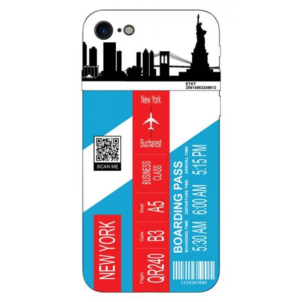 Husa Silicon Soft Upzz Print Travel Compatibila cu Iphone 7 - Iphone 8 Model New York imagine itelmobile.ro 2021