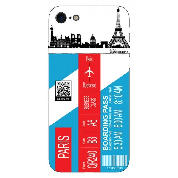 Husa Silicon Soft Upzz Print Travel Compatibila cu Iphone 7 - Iphone 8 Model Paris imagine itelmobile.ro 2021