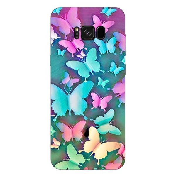 Husa Silicon Soft Upzz Print Compatibila Cu Samsung Galaxy S8+ Model Colorfull Butterflies imagine itelmobile.ro 2021
