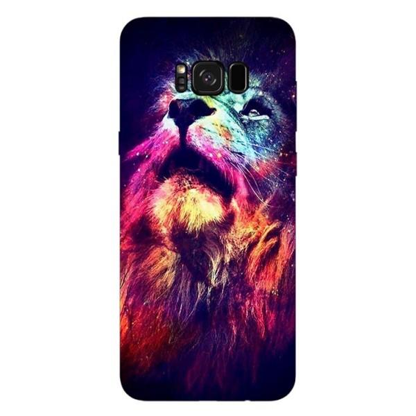 Husa Silicon Soft Upzz Print Compatibila Cu Samsung Galaxy S8+ Model Neon Lion imagine itelmobile.ro 2021