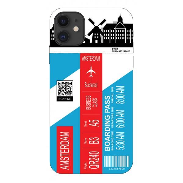 Husa Silicon Soft Upzz Print Travel Compatibila cu Iphone 11 Model Amsterdam imagine itelmobile.ro 2021