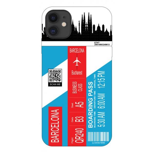 Husa Silicon Soft Upzz Print Travel Compatibila cu Iphone 11 Model Barcelona imagine itelmobile.ro 2021