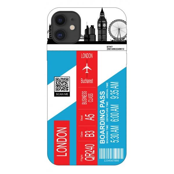 Husa Silicon Soft Upzz Print Travel Compatibila cu Iphone 11 Model London imagine itelmobile.ro 2021