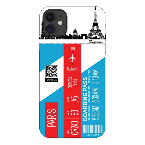 Husa Silicon Soft Upzz Print Travel Compatibila cu Iphone 11 Model Paris imagine itelmobile.ro 2021