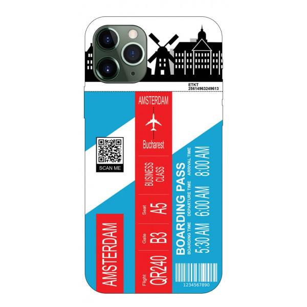Husa Silicon Soft Upzz Print Travel Compatibila cu Iphone 11 Pro Max Model Amsterdam imagine itelmobile.ro 2021