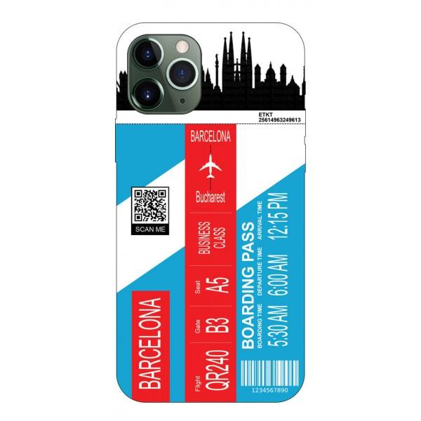 Husa Silicon Soft Upzz Print Travel Compatibila cu Iphone 11 Pro Max Model Barcelona imagine itelmobile.ro 2021