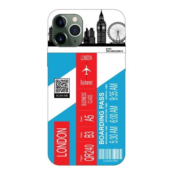 Husa Silicon Soft Upzz Print Travel Compatibila cu Iphone 11 Pro Max Model London imagine itelmobile.ro 2021
