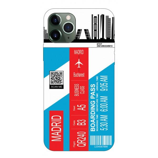 Husa Silicon Soft Upzz Print Travel Compatibila cu Iphone 11 Pro Max Model Madrid imagine itelmobile.ro 2021