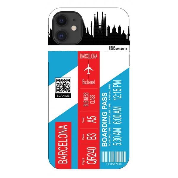 Husa Silicon Soft Upzz Print Travel Compatibila cu Iphone 12 Model Barcelona imagine itelmobile.ro 2021
