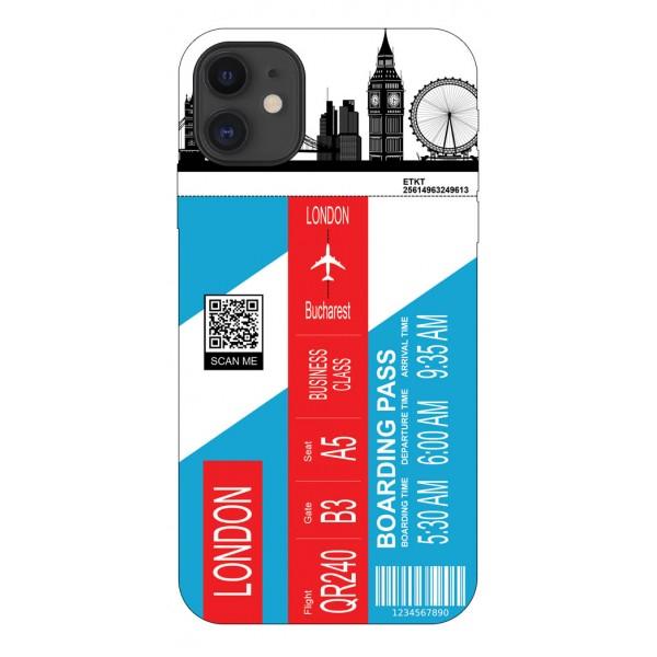 Husa Silicon Soft Upzz Print Travel Compatibila cu Iphone 12 Model London imagine itelmobile.ro 2021