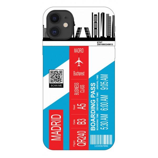 Husa Silicon Soft Upzz Print Travel Compatibila cu Iphone 12 Model Madrid imagine itelmobile.ro 2021