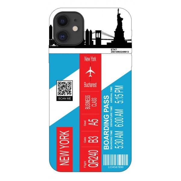 Husa Silicon Soft Upzz Print Travel Compatibila cu Iphone 12 Model New York imagine itelmobile.ro 2021