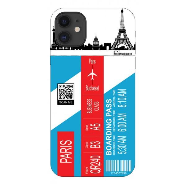 Husa Silicon Soft Upzz Print Travel Compatibila cu Iphone 12 Model Paris imagine itelmobile.ro 2021
