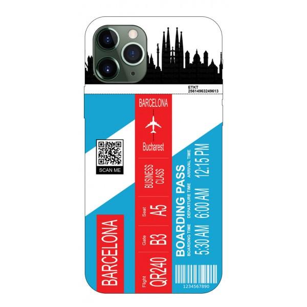 Husa Silicon Soft Upzz Print Travel Compatibila cu Iphone 12 Pro Model Barcelona imagine itelmobile.ro 2021