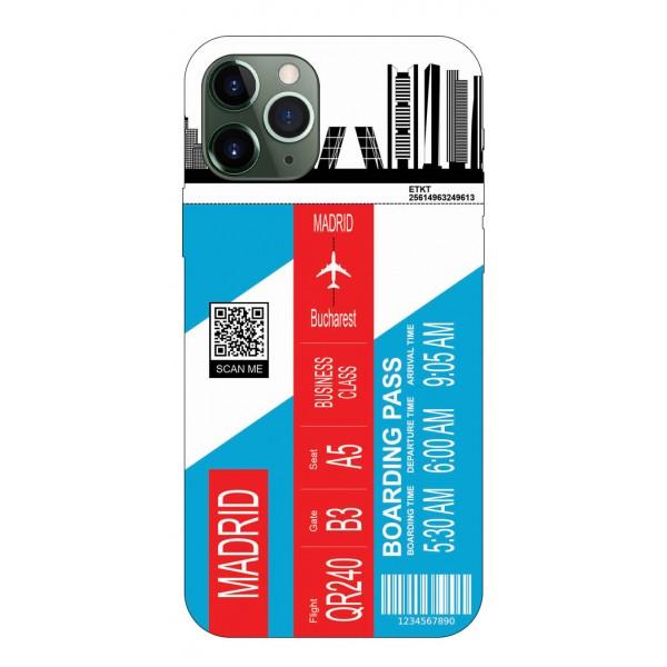 Husa Silicon Soft Upzz Print Travel Compatibila cu Iphone 12 Pro Max Model Madrid imagine itelmobile.ro 2021