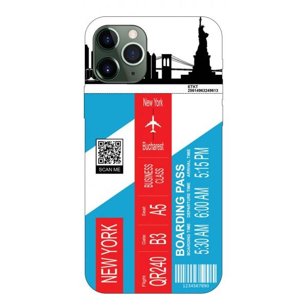 Husa Silicon Soft Upzz Print Travel Compatibila cu Iphone 12 Pro Max Model New York imagine itelmobile.ro 2021