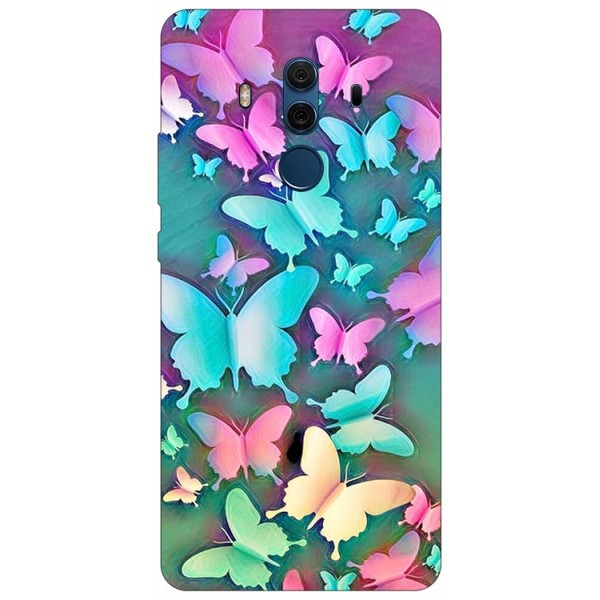 Husa Silicon Soft Upzz Print Compatibila Cu Huawei Mate 10 Pro Model Colorfull Butterflies imagine itelmobile.ro 2021
