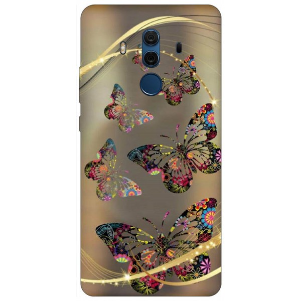 Husa Silicon Soft Upzz Print Compatibila Cu Huawei Mate 10 Pro Model Golden Butterfly imagine itelmobile.ro 2021