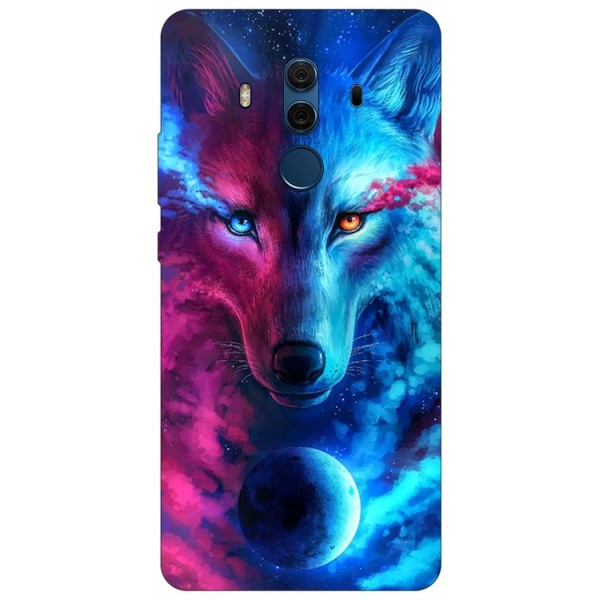 Husa Silicon Soft Upzz Print Compatibila Cu Huawei Mate 10 Pro Model Wolf imagine itelmobile.ro 2021