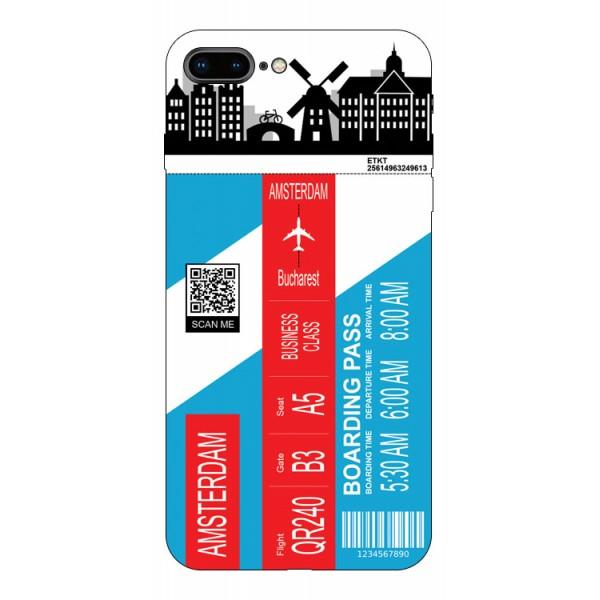 Husa Silicon Soft Upzz Print Travel Compatibila cu Iphone 7 Plus / 8 Plus Model Amsterdam imagine itelmobile.ro 2021