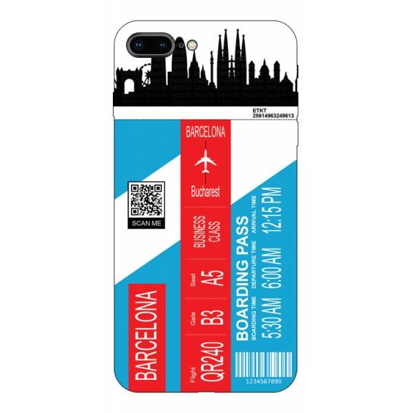 Husa Silicon Soft Upzz Print Travel Compatibila cu Iphone 7 Plus / 8 Plus Model Barcelona imagine itelmobile.ro 2021