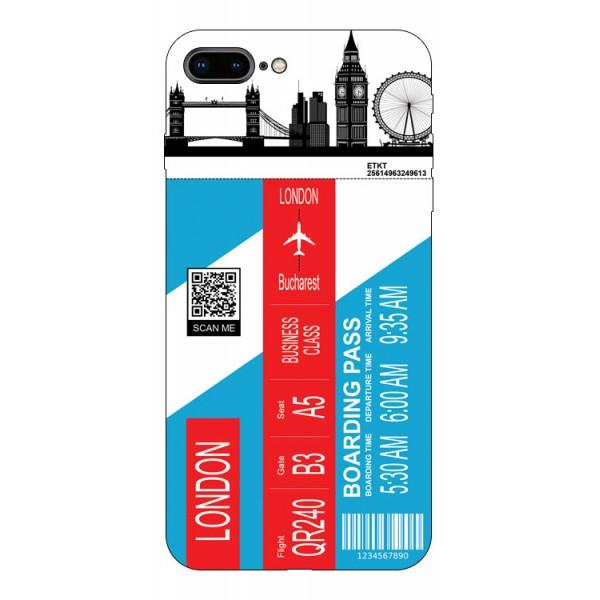 Husa Silicon Soft Upzz Print Travel Compatibila cu Iphone 7 Plus / 8 Plus Model London imagine itelmobile.ro 2021