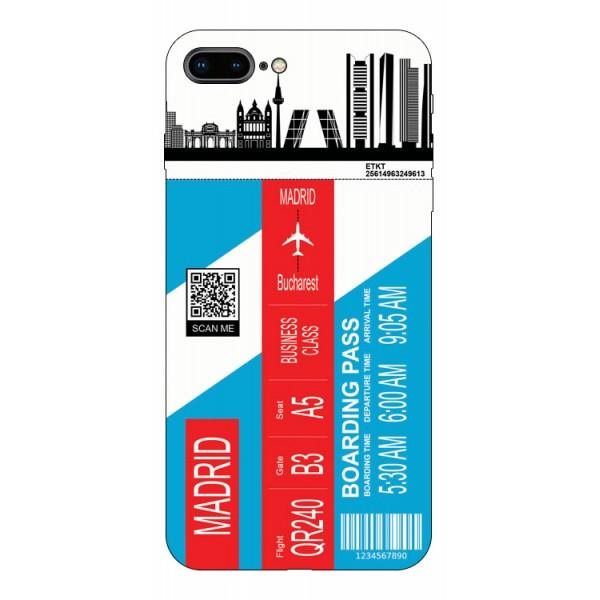 Husa Silicon Soft Upzz Print Travel Compatibila cu Iphone 7 Plus / 8 Plus Model Madrid imagine itelmobile.ro 2021