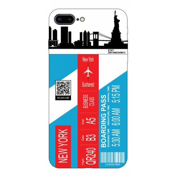 Husa Silicon Soft Upzz Print Travel Compatibila cu Iphone 7 Plus / 8 Plus Model New York imagine itelmobile.ro 2021
