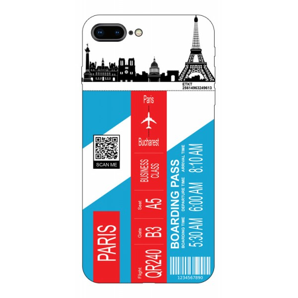 Husa Silicon Soft Upzz Print Travel Compatibila cu Iphone 7 Plus / 8 Plus Model Paris imagine itelmobile.ro 2021