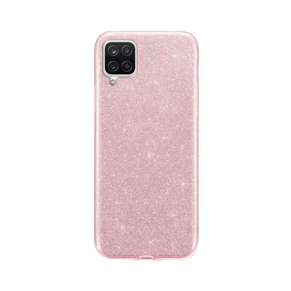 Husa Spate Upzz Shiny Compatibila Cu Samsung Galaxy A12, Roz imagine itelmobile.ro 2021