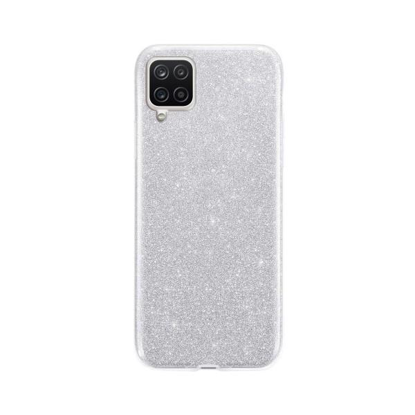 Husa Spate Upzz Shiny Compatibila Cu Samsung Galaxy A12, Silver imagine itelmobile.ro 2021