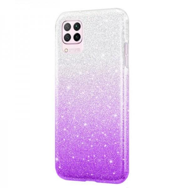 Husa Spate Upzz Shiny Compatibila Cu Samsung Galaxy A12, Silver Mov imagine itelmobile.ro 2021
