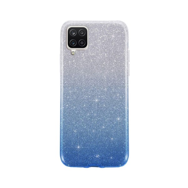 Husa Spate Upzz Shiny Compatibila Cu Samsung Galaxy A12, Silver Albastru imagine itelmobile.ro 2021