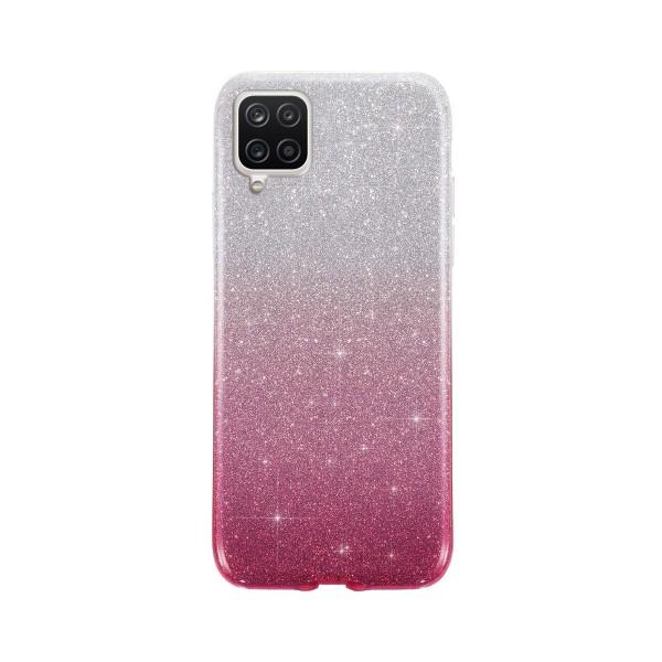 Husa Spate Upzz Shiny Compatibila Cu Samsung Galaxy A12, Silver Roz imagine itelmobile.ro 2021