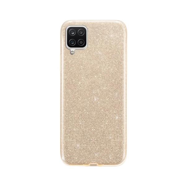 Husa Spate Upzz Shiny Compatibila Cu Samsung Galaxy A12, Gold imagine itelmobile.ro 2021