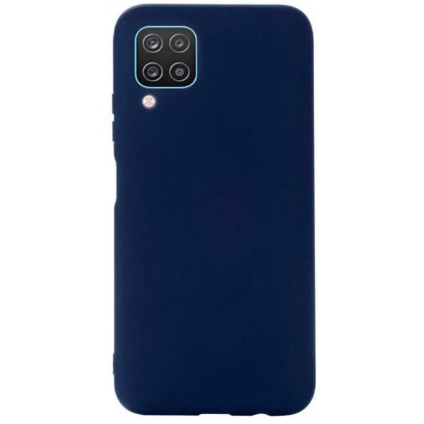 Husa Slim Silicon Upzz Compatibila Cu Samsung Galaxy A12, Navy Albastru imagine itelmobile.ro 2021
