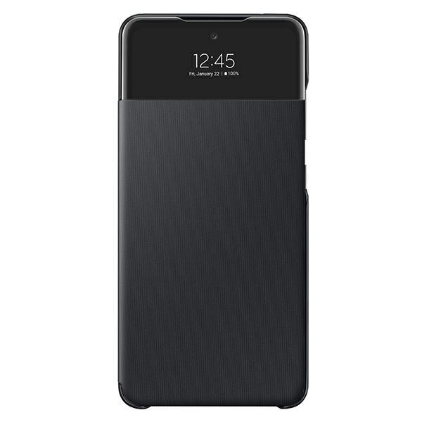 Husa S view Wallet Cover Samsung Compatibila Cu Samsung Galaxy A72, Negru imagine itelmobile.ro 2021