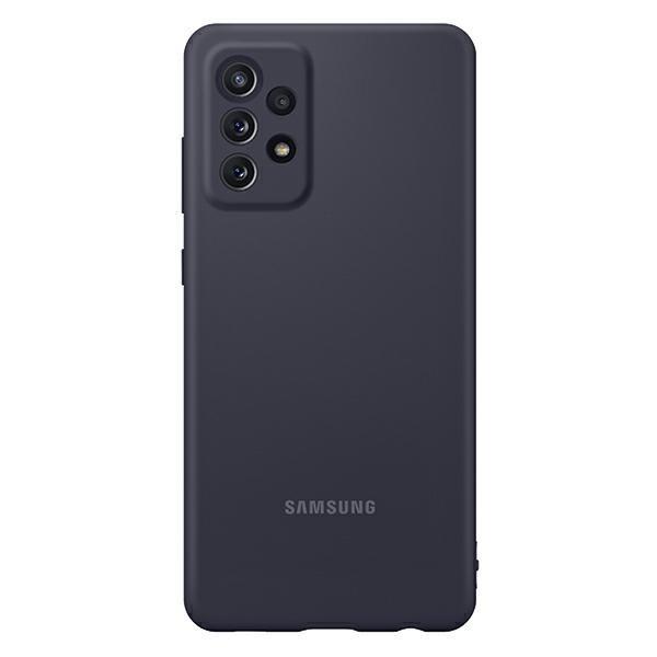 Husa Spate Samsung Silicone Compatibila Cu Samsung Galaxy A72, Invelis Alcantara La Interior, Negru imagine itelmobile.ro 2021