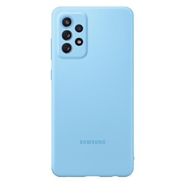 Husa Spate Samsung Silicone Compatibila Cu Samsung Galaxy A72, Invelis Alcantara La Interior, Albastru imagine itelmobile.ro 2021