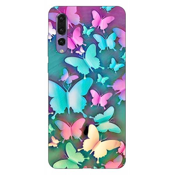 Husa Silicon Soft Upzz Print Compatibila Cu Huawei P20 Pro Model Colorfull Butterflies imagine itelmobile.ro 2021